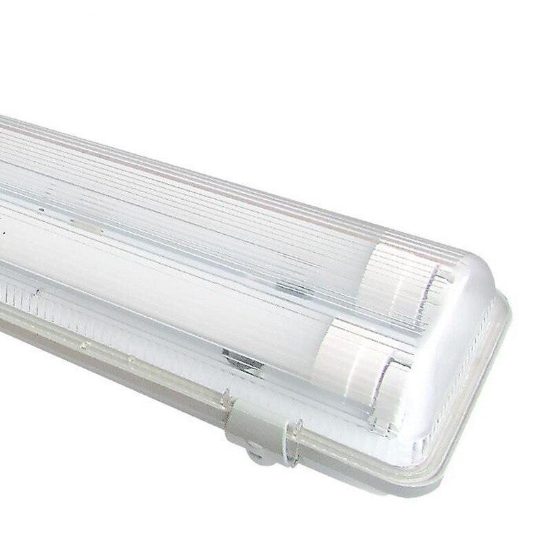 Imperméable Blanc pur 2 pièces 4 Pieds (1.2 M) 18 Watts Double LED T8 Tube Tri-preuve Luminaire AC100-245V LED T8 Tube Tri-preuve Lumière