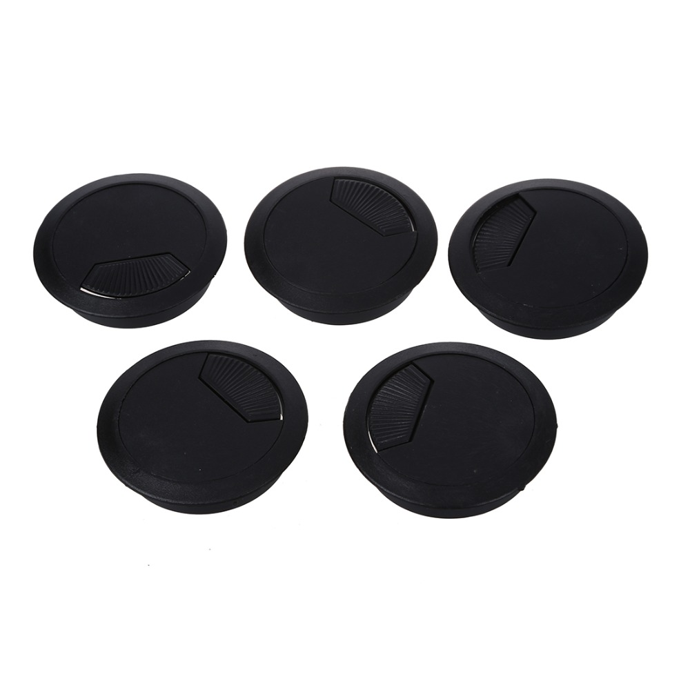 5 Pcs Home Office Desk Table Computer 60mm Cable Cord Grommet Hole5 Pcs Home Office Desk Table Computer 60mm Cable Cord Grommet Hole