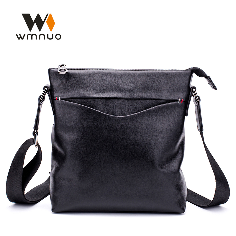 Wmnuo Brand Men Bag Handbags Genuine Cow Leather Men Shoulder Messenger Bags Fashion Crossbody Bags High Quality Business Bag jason tutu promotions men shoulder bags leisure travel black small bag crossbody messenger bag men leather high quality b206