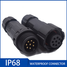 1pcs IP68 Waterproof Electric Cable Plug Socket 15A Male Female Assembled Soldering Wire Connector 2/3/4/5/6/7/8/9/10/11/12 Pin цены