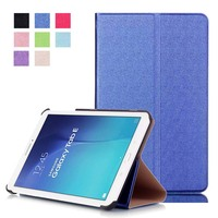 Ultra Slim Luxury Stand Flip PU Leather Magnetic Protective Cover Case For Samsung Galaxy Tab E