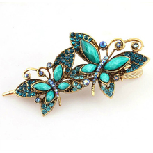 JEYL 10X Lovely Vintage Jewelry Crystal Butterfly bowknot Hairpins Hair stick – for hair Beauty Tools