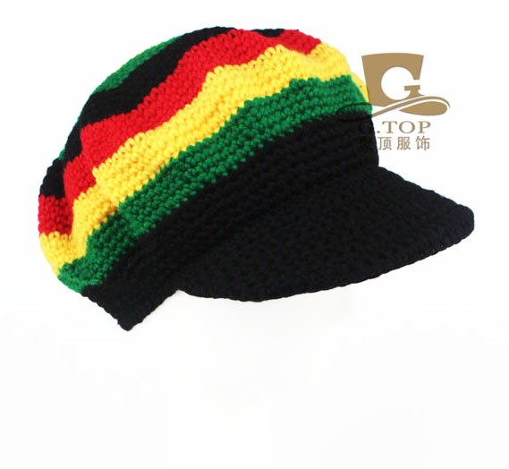 Rasta Hat Beanies Knit Hats Beret Crochet Slouchy Tam Reggae Jamaica