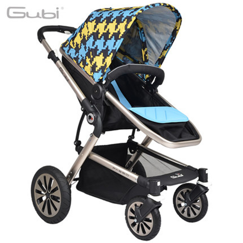 High-view Baby Carriage, Aluminum Alloy Frame, Shock Absorption, Bidirectional and Foldable Stroller for Baby to Sit or Lie down fashion baby stroller high view portable bidirectional foldable aluminum alloy shock absorption baby pram pushchair buggys