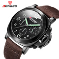 Longbo marca militar deporte militar reloj de cuarzo ocasional relojes reloj masculino hombres reloj deportivo reloj de pulsera de cuero 80180