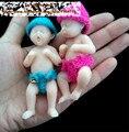 2 pcs mini polegar boneca de bolso gêmeos do bebê bonito do bebê simulação boneca reborn baby minúsculo coleção presente para as crianças