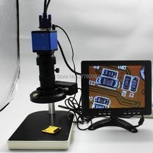Promo offer 2.0MP Digital Industrial Microscope Camera VGA Output+8X-130X Optical C-mount Lens+Light Source+Bracket+8-inch Monitor