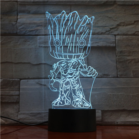 Guardians of The Galaxy Groot 3D LED Night Light Home Decor Table Lamp Xmas Gift