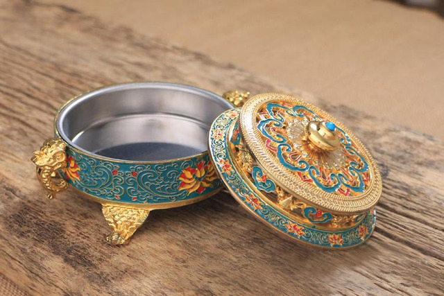 Royal Tibetan Alloy Incense Burner