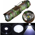 DIU# 5Pcs Mini CREE Q5 2000 Lumen Three Mode Zoomable Flashlight Torch Light Adjustable Light Lamp