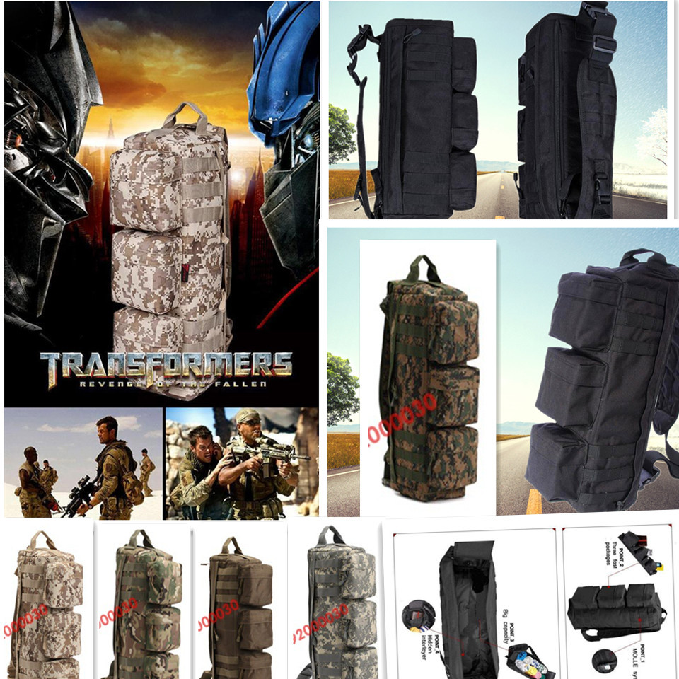 Us 27 36 5 Off Go Bag Tactical Backpack Military Camping Outdoor Sport Long Bags Transformers Charge Package Hunting In From
