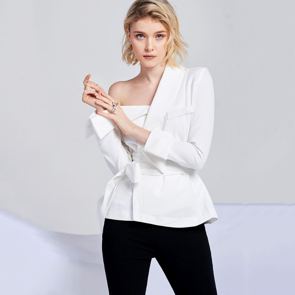 Shirt À Pour Chemise Taille Manches Revers Botton Femme Mince Solide Blouses Décontracté Haoduoyinew Lacets Asymétrique Robe Longues Ol Hdy White FqHEpxSwZ