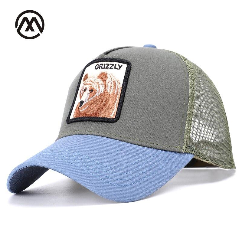 88d2cda228d41 Men s New Animal bear Embroidery Baseball Caps Women s Universal  Comfortable Breathable Adjustable High Quality Sun Hats bone
