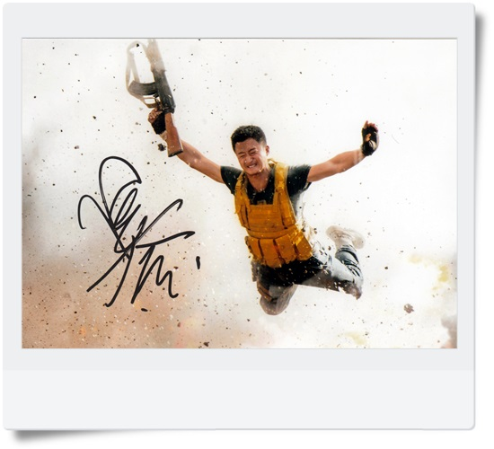 signed Wolf Warriors WU JING  autographed original photo 7 inches  6 versions free shipping 08201702 signed kobe bryant autographed original photo 7 inches free shipping 08201709