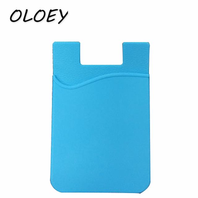 wholesale dealer d100f c1999 US $0.6 28% OFF|1pc Silicon Rubber Card Case Mobile Phone Shell Pocket  Sticker Women Men Bank Card Holder ID Card Cover Bus Card Cover#-in Card &  ID ...