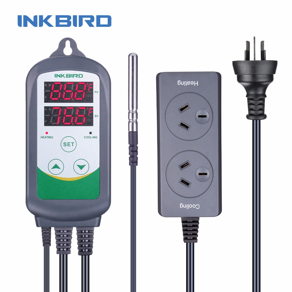 Inkbird AU Plug ITC 308 Heating and Cooling Dual Relay Temperature Controller Carboy Ferment Greenhouse Terrarium