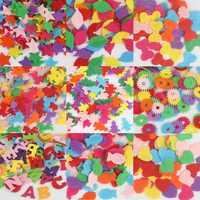 50/100 unids/lote Color mezclado al azar varias formas fieltro parche apliques fieltro Scrapbooking Etiqueta de alta calidad