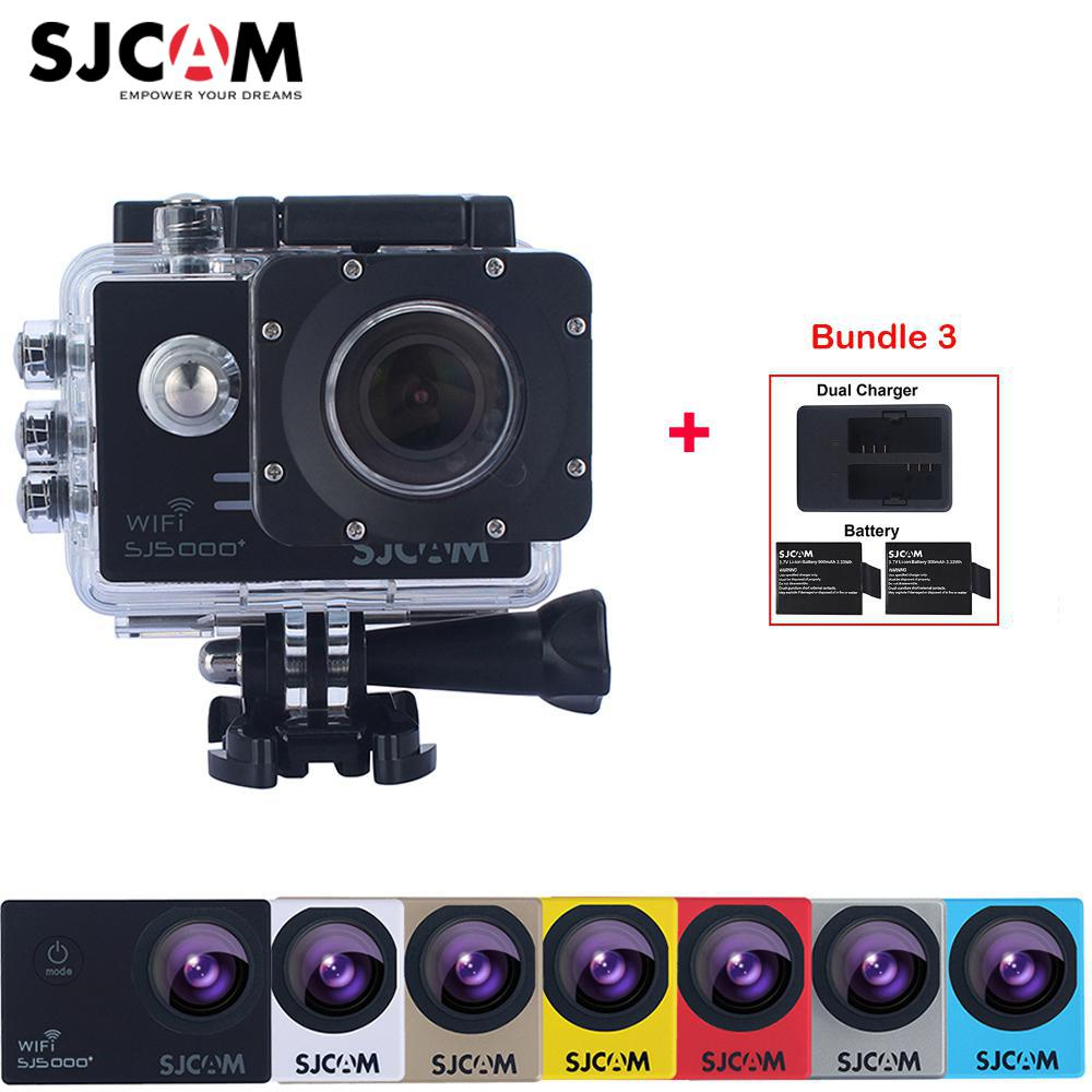 100% Original SJCAM SJ5000 Plus WiFi Slow Motion 30M Waterproof Sports Action Camera Sj DV Cam +Extra 2 Battery+Dual Charger