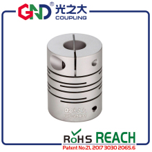 GND flexible coupling aluminum electric motor stepmotor parallel line shaft coupler of acid-base servo motor quick-coupling CNC