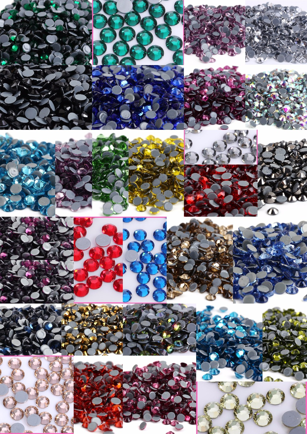 Купить с кэшбэком Mix Colors DMC Flatback Crystals Hot Fix Rhinestones,Strass Sewing & Fabric Garment Rhinestones.SS6,SS8,SS10,SS16,SS20,SS30