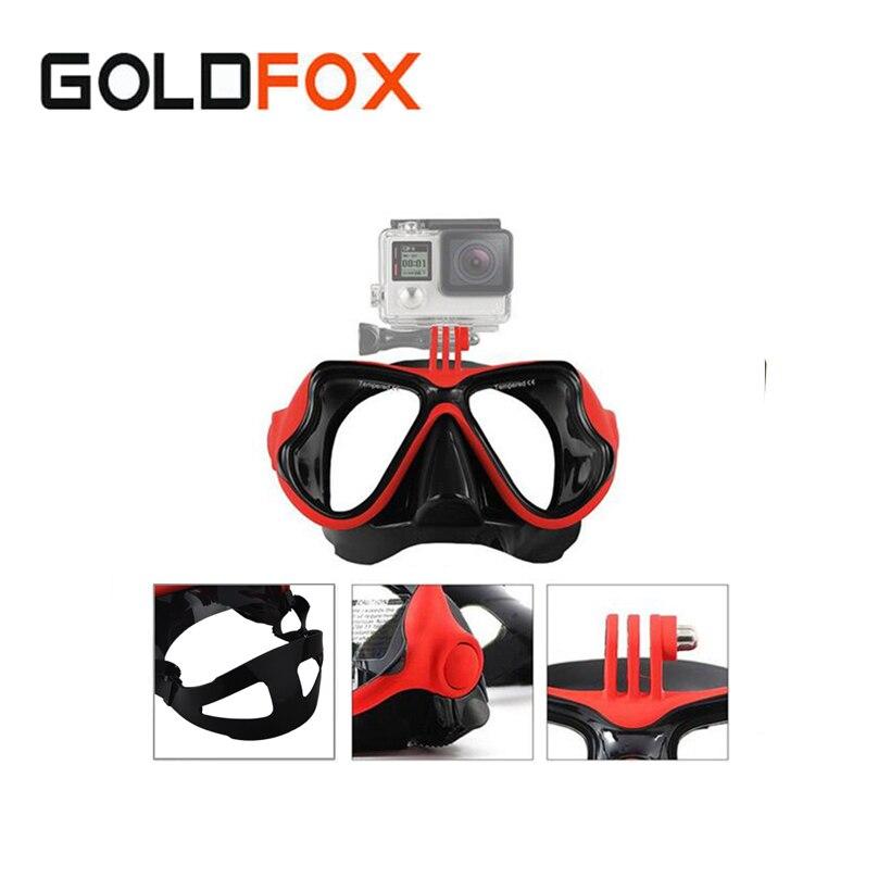 Professionnel Sous-Marine Plongée Masque Trempé Glasse Tuba Lunettes Pour Gopro Hero 5 4 3 2 1 Xiaomi yi Sport DV Camera Action