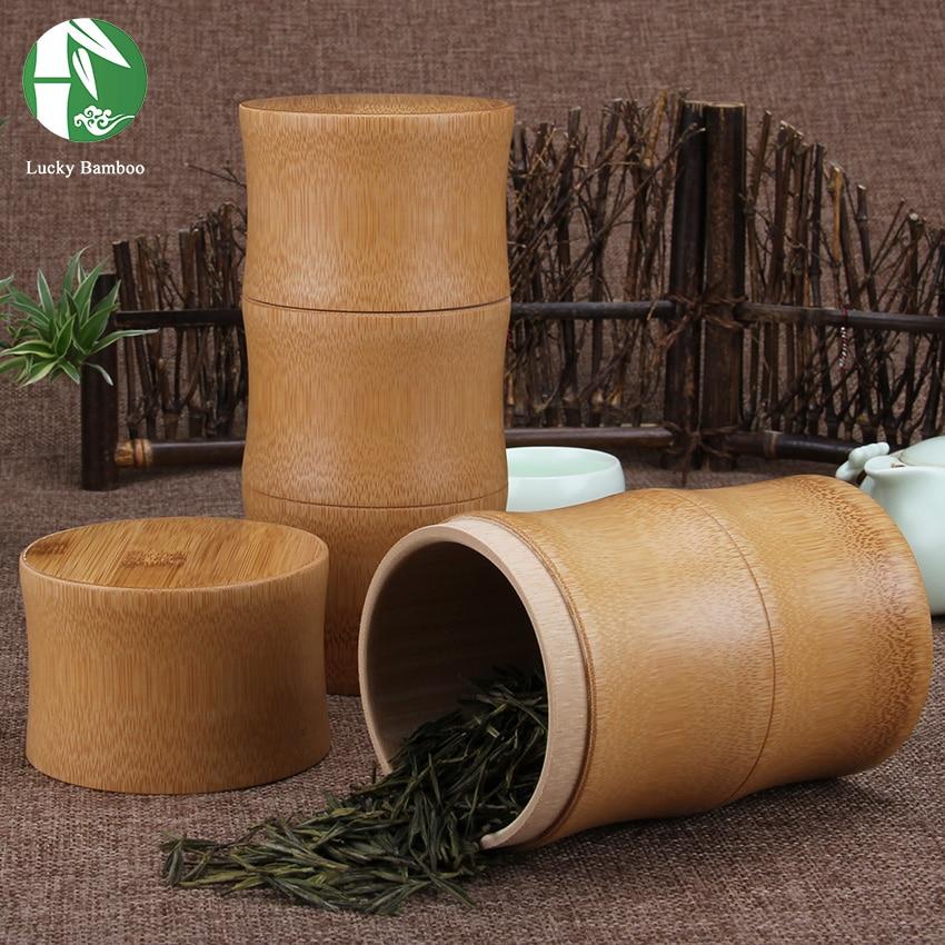 Bamboe opslag flessen Keuken thee Container Jar blikjes Case - Home opslag en organisatie - Foto 6