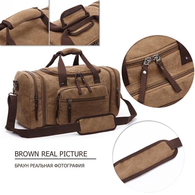 Markroyal lona sacos de viagem grande capacidade carry on sacos de bagagem dos homens mochila de viagem tote fim de semana saco dropshipping 2