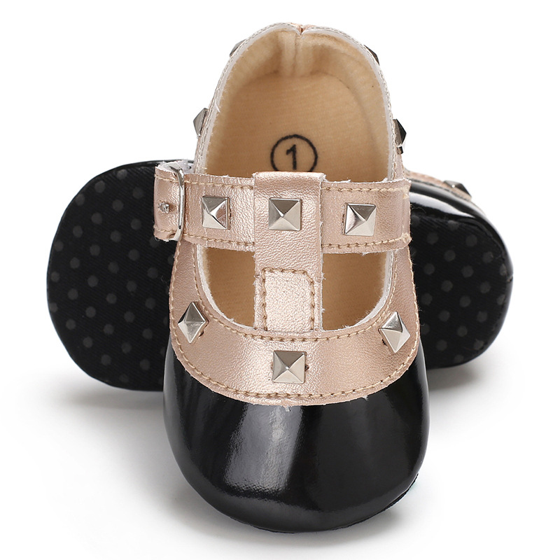 FEAMODAL Infant Baby Girls Mary Jane Flat Princess Shoes Non-Slip Soft Rubber Sole Toddler First Walking Sneaker Dress Shoes