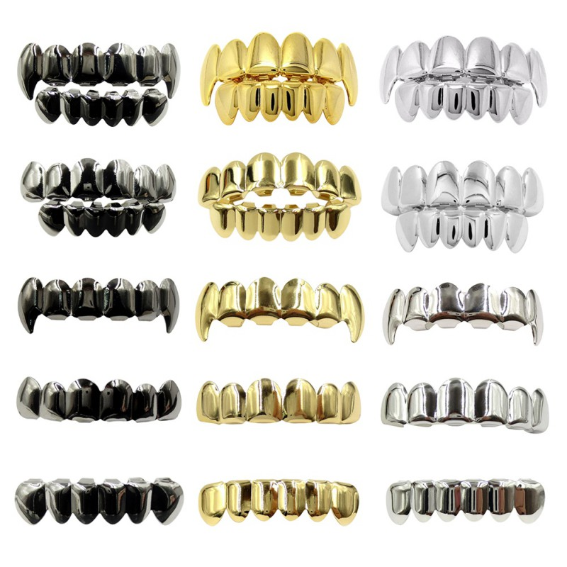 14K Gold Plated Teeth Grillz Caps Top OR Teeth Grill JD