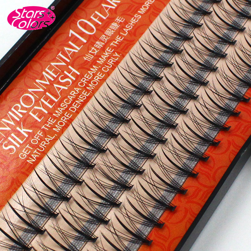 New Middle Dense Side False Individual Eyelashes 0.07mm Natural Soft Silk Eyelash Extension Makeup Tools