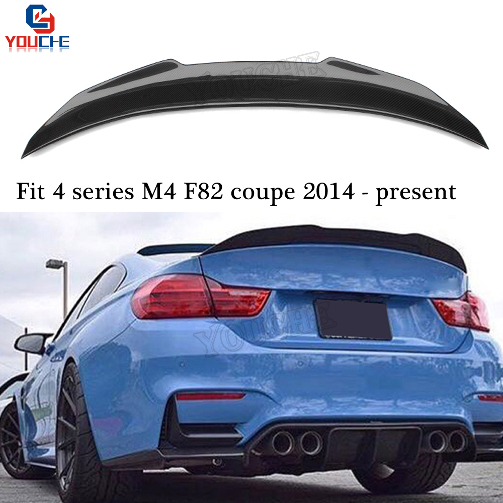 For BMW M4 F82Coupe Carbon Fiber Rear Trunk Boot Lip Wing Spoiler 14-19