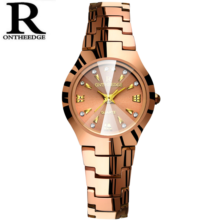 Tungsten steel Waterproof Rose Gold Watch Women Quartz Watches Ladies Top Brand Luxury Female Wrist Watch Girl Clock Relogio брюки спортивные для мальчика adidas yb p tiro pant цвет черный белый dw4687 размер 134