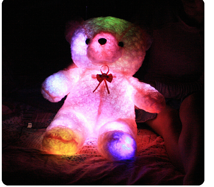 Cute Teddy Bear Shiny+Music Pink Doll Birthday Gift Valentineu0027s Day Gifts  Children Girlfriend Creative Gifts No.001 1