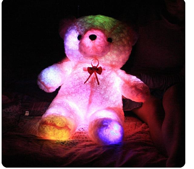 cute teddy bear biscus emitters plush doll birthday gift valentines day gifts children girlfriend creative gifts