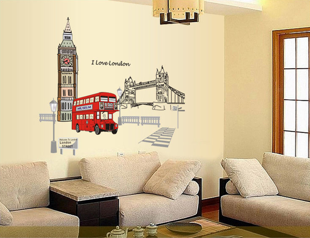 Selling london decorative wall stickers bedroom living room sofa ...
