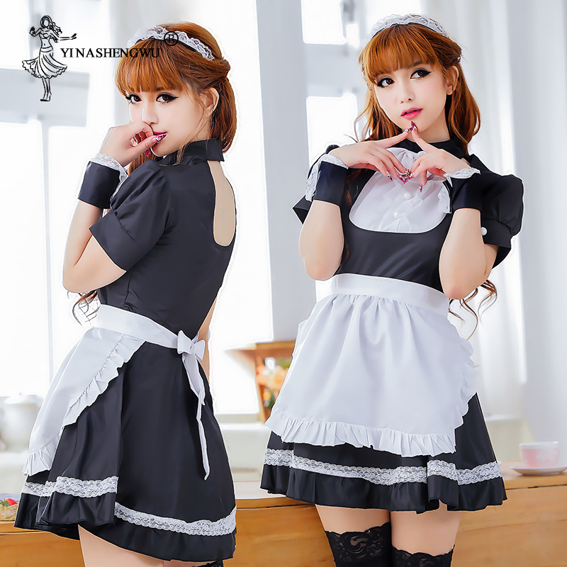 Maid Cosplay <font><b>Sexy</b></font> Sweet Lolita Dress Maid <font><b>Costume</b></font> <font><b>Anime</b></font> Cosplay Maid Uniform Plus <font><b>Halloween</b></font> <font><b>Costumes</b></font> For Women image
