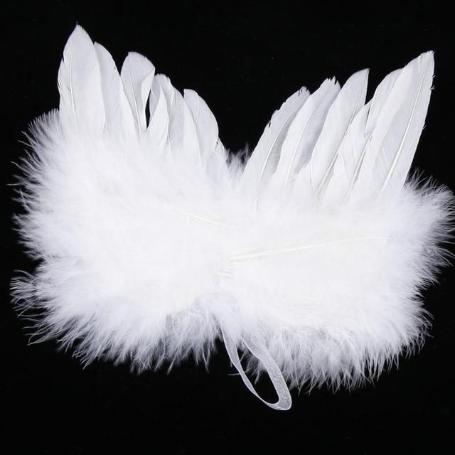 baby kids photo props angel white feather wing christmas tree decoration hanging ornament birthday party decoration - Feather Christmas Tree Decorations
