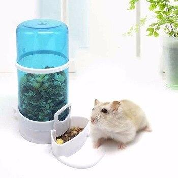 Hamster Automatic Feeder Small Pets Water Fountain Rabbit Hedgehog Drinking Bowl Food Feeder Кормушка
