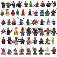 Avengers Action Figure Super Hero Captain Marvel Ant Man Wasp Mini Building Blocks Hulk Black Panther Toys For Children(China)