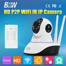 BW Security CCTV 3.6mm Wireless Wifi HD 720P Dome Camera P2P IR-Cut Night Vision Camcorder Onvif Video Recorder for Android IOS