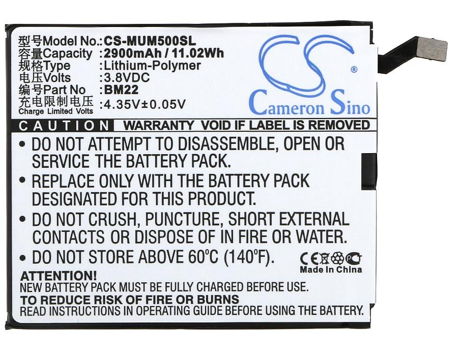 Cameron Sino Bateria 2900mAh BM22 para XiaoMi Gemini, Mi5, Mi5 Gold Edition, Dual SIM, mi5 Pro, Cerâmica Editio, Dual S