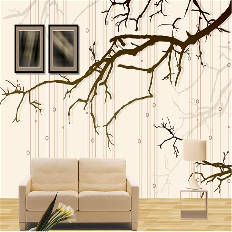 Customize 3d Photo Wall Paper Branches Minimalist Environment Friendly Restaurant Wallpaper Non-Woven Wall Paper for Kitchen beibehang non woven pink love printed wallpaper roll striped design wall paper for kid room girls minimalist home decoration