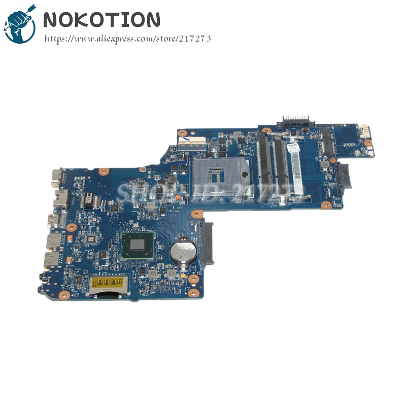 NOKOTION H000050780 Laptop Motherboard For Toshiba Satellite C850 L850 Main Board SJTNV HM70 DDR3 Free cpu nokotion genuine h000064160 main board for toshiba satellite nb15 nb15t laptop motherboard n2810 cpu ddr3