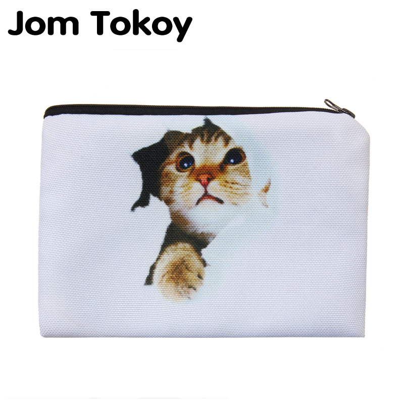 Cat Hole Portable Type Make up Bags Cosmetic Case Maleta de Maquiagem Bags Storage Travel Makeup Bag Brand Pencil case cosmetic bags kawaii cartoon pencil pen case cosmetic makeup bag zipper travel pouch case large contain bags mala de maquiagem 2