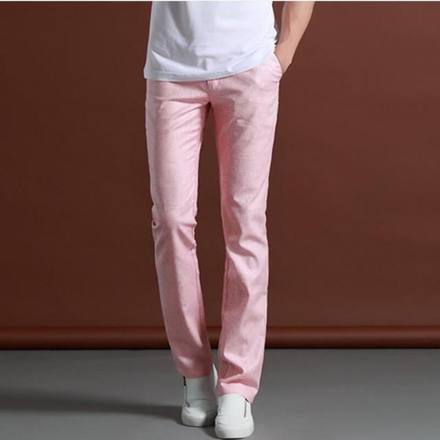 Temperamento De la Manera de Los Hombres de gama Alta Ropa de la Marca de Ropa de Ocio de la Edición del Estiramiento Pantalones Hombres Pantalones Slim Fit Pantalones a cuadros