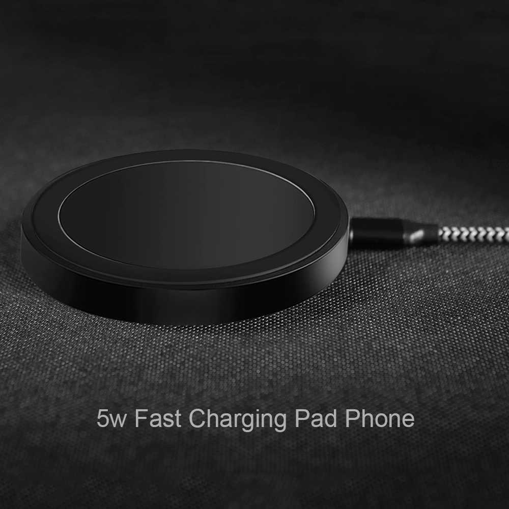 العالمي تشى اللاسلكية شاحن لاسلكي سريع شحن الوسادة لسامسونج S8 S9 5W المحمولة شحن ل فون Xs ماكس XR X 8 زائد