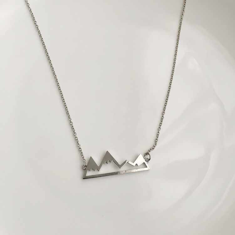 Fashion personality irregular geometry volcanic shape necklace aliexpress hot sale collarbone necklace for men and women(China)