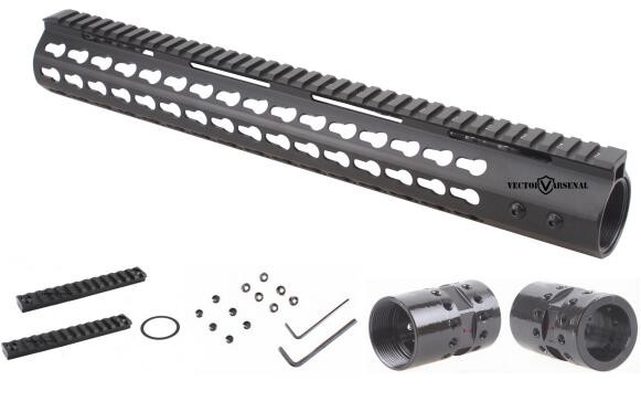 Vector Optics .308 Slim KeyMod 15'' Inch Free Float Handguard Picatinny Rail Mount Scope Bracket fit AR10 AR 10 308 vector optics tactical 308 slim keymod 17 inch free float handguard picatinny rail mount scope bracket fit ar10 ar 10 308