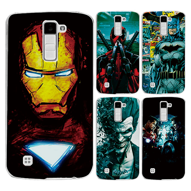 "For LG K7 5.0"" Soft Phone Case Cover Charming Marvel Avengers Captain America Iron man Spiderman Perfect Fundas For LG K7 M1"