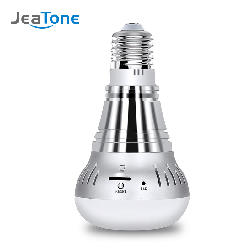 JeaTone 1080P security ip camera wifi wireless bulb lamp smart ip webcam 360 degree FishEye home surveillance panoramic camera панно dear frida